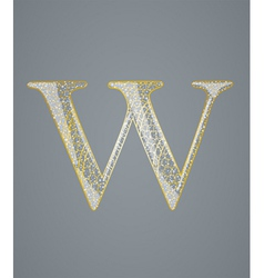 Abstract golden letter w vector