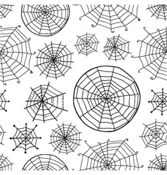 Seamless pattern with spiderweb vector