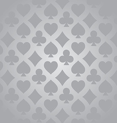 Playing card suits pattern vector