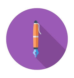 Pen single icon vector