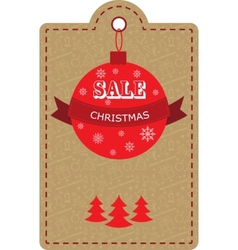 Large christmas sale decorations with discount vector