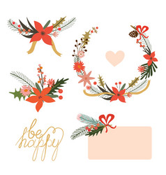 Floral holiday designs vector