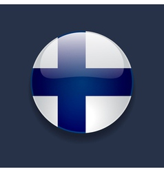 Round icon with flag of finland vector