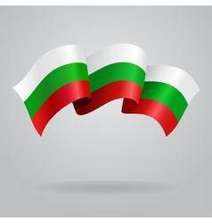 Bulgarian waving flag vector