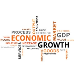 Word cloud economic growth vector