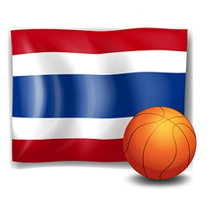 A ball in front of the flag of thailand vector