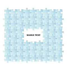 Blue puzzle field vector