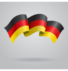 German waving flag vector