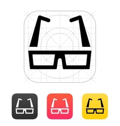 Modern glasses icon vector