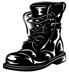Black army boot vector
