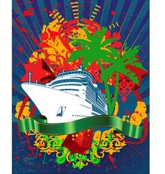 Ocean cruise poster vector