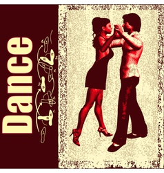 Ballroom dance background vector
