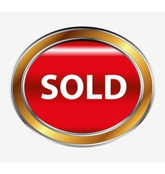 Sold button vector