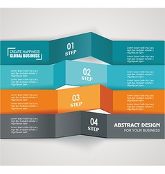 Design color number banners template for info vector