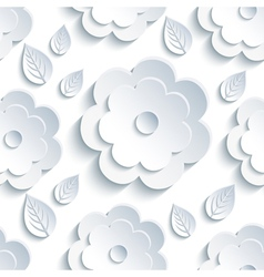 Background seamless pattern with grey flowers and vector