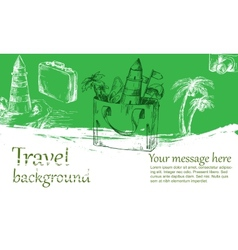 Travel background color vector