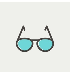 Sunglasses thin line icon vector