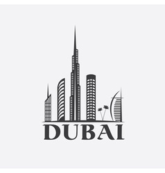 Dubai city skyline design template vector