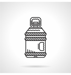 Flat line water bottle icon vector