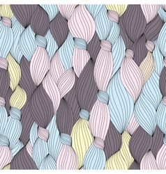 Seamless pattern from hair and strips vector