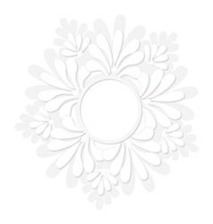 Round decorative floral frame vector