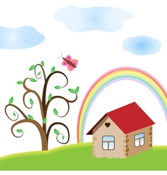 Summer house vector