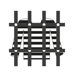Prisoner shirt in prison grayscale icon eps10 vector