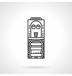 Flat line office cooler icon vector
