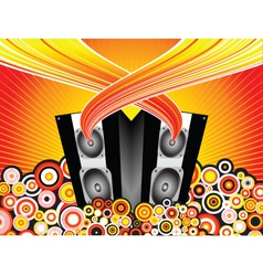 Music burst vector