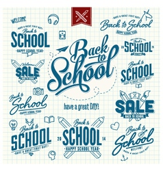 Huge set back to school typographic sins vector