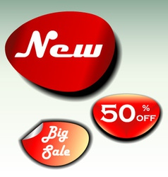 Labels for big sale new and discount vector