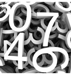 Set of digital numbers background vector