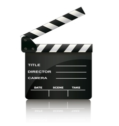 Clapper board isolated on white background vector