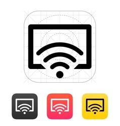 Remote control tv icon vector