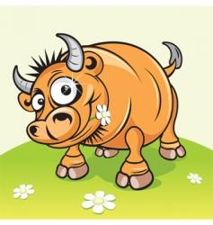 Cartoon bull vector