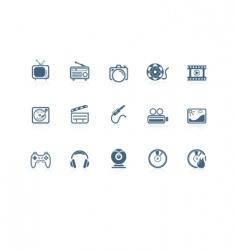 Media icons  piccolo series vector