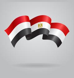 Egyptian waving flag vector