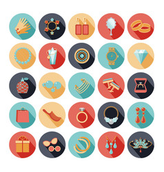 Fashion accessories flat icons vector