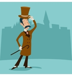 Vintage great britain victorian gentleman vector