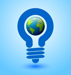 Lightbulb earth vector