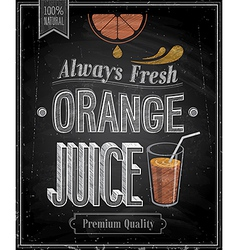 Orange juice chalk vector