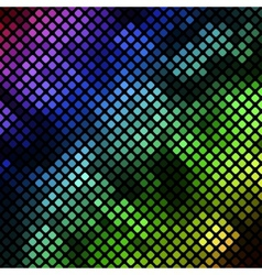 Bright diagonal mosaic in bokeh effect vector