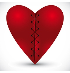 Heart cross linked with a thread vector