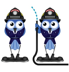Firefighter hose vector