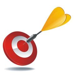 Icon target dart vector