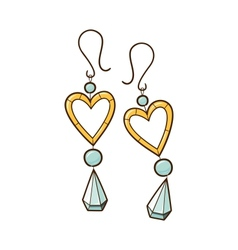 Hearts earrings vector