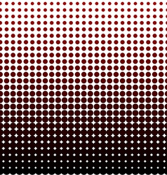 Halftone dots black and red dots background vector