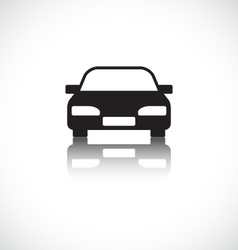 Car icon with shadow vector