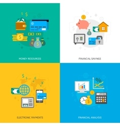 Set of finance and money icons vector