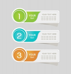 Sticker label paper colorful set vector